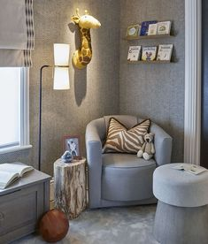 shows us how to create the cosiest nursery corner, using our Madison chair, Clarkson lamp and Petrified Wood… Nursery Furniture, Nursery Room, Kids Bedroom, Location Meublée, Baby Boy Rooms, Kid Rooms, Baby Room, Nursery Inspiration, Decoration