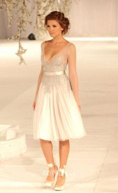 illusion v neck lace tulle short knee length cocktail dress