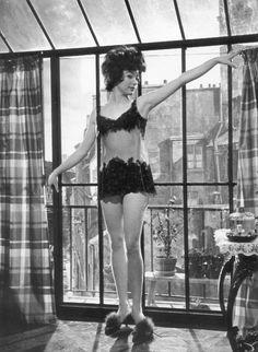 "Shirley MacLaine photographed by Leo Fuchs on the set of ""Irma La Douce"" [1963]"