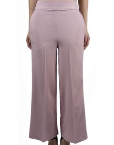 Japanese Trousers - Pink $104.00  Flared trousers in a pink color, ankle-length, high waist and spring in the rear.