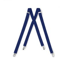 Royal Blue Suspenders One Inch Wide Clip End