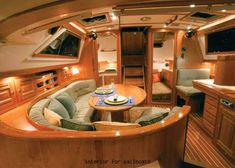 1000 ideas about sailboat interior on pinterest boats sailboats and saili - Interieur bateau de luxe ...