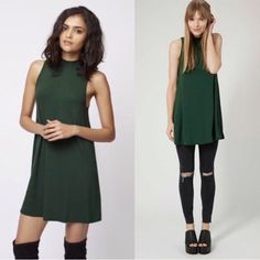 💗 HOST PICK 💗 Top Shop Emerald Green Dress Top Shop Emerald Green Dress. Worn once. I would keep this dress but I purchased the wrong size thinking a 6 would fit me and threw away the receipt. 😞 This dress is super comfortable and can be worn casual or dressed up! No trades. 🙅🏻 Topshop Dresses