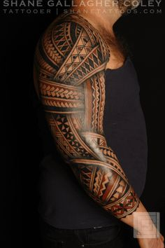 polynesian tattoos meaning Polynesian Tribal Tattoos, Tribal Arm Tattoos, Cool Arm Tattoos, Badass Tattoos, Arm Tattoos For Guys, Forearm Tattoos, Samoan Tribal, Buddha Tattoos, Geometric Tattoos