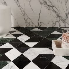 This startlingly handsome Prism Verdone marble mosaic tile is sure to shake things up. Sophisticated marble tile design that meets modern day colors to create a coveted statement piece. Modern Bathroom Tile, Bathroom Floor Tiles, Wall Tiles, Green Marble Bathroom, Marble Mosaic, Marble Floor, Mosaic Tiles, Mosaics, Floor Patterns