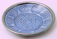 Magickal Ritual Sacred Tools:  Hecate Wheel and Spirals Ceramic #Offering #Bowl, in Lavender.