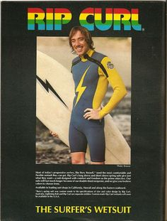 Good Morning with Rory Russell :: Rip Curl Ad 'The Surfer's Wetsuit'  #Legend #lightningbolt #Lightningboltsurfboards #ripcurl