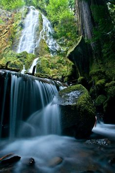 Spirit and Moon Falls near Eugene, Oregon - Must See