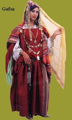 Traditional costume of Gafsa, Tunisia