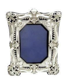 "Antique Victorian Sterling Silver 8"" Photo Frame 1898 | 507787 | Sellingantiques.co.uk"