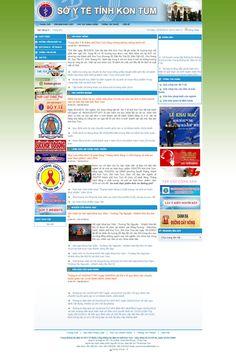 Website Sở Y Tế Kon Tum - Thiết kế web http://cnm.com.vn