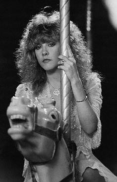 Stevie Nicks on a carousel