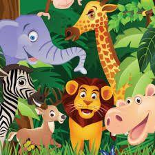 Image result for tarjetas de animalitos de la selva
