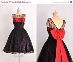 1950s party dress - lace dress / vintage 1950s dress / total package on Etsy, $212.40