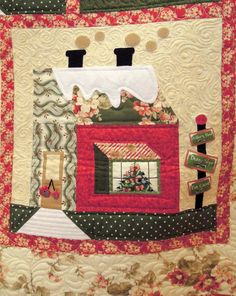 Close-up, Holiday Lane by Lori Hemmingsen-Souza, quilted by Brandy Rice, photo by Quilt Inspiration