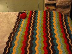 The Constant Gatherer: chevron ripple crochet afghan