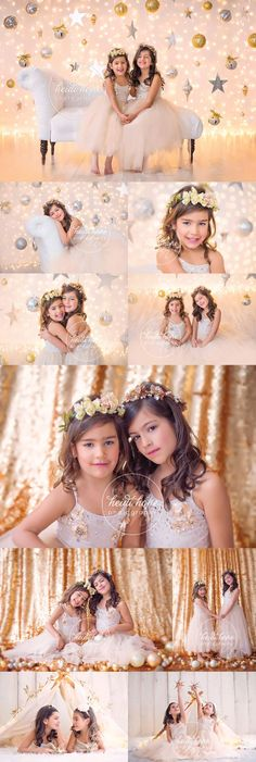 Golden girls P and A in our sparkly holiday sets! | Heidi Hope Photography
