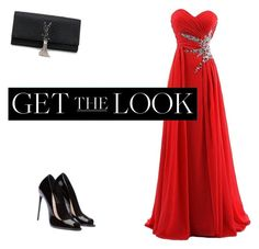 """Get the Look: Met Gala 2016"" by kayleigh-arndt ❤ liked on Polyvore featuring Yves Saint Laurent, GetTheLook and MetGala"