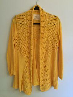 Anthropologie - mustard cardigan sweater