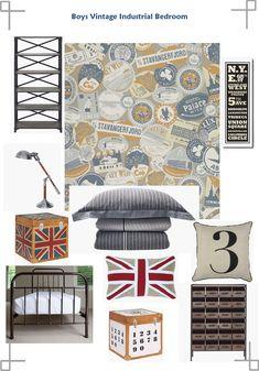 Teen Boys room......Vintage meets industrial!