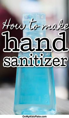 household hacks This easy DIY hand sanitizer is super easy to make at home and helps protect you from germs. Make this easy gel sanitizer for your family now House Cleaning Tips, Diy Cleaning Products, Cleaning Hacks, Deep Cleaning, Cleaning Supplies, Solution Hydro-alcoolique, Best Hand Sanitizer, Kids Plates, Cleaners Homemade