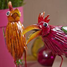 Papagei aus Metall