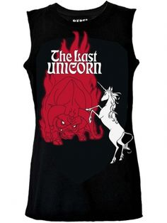 THE SCOOP: This on-trend oversize muscle tank features a hand-drawn rendition of a vintage Last Unicorn Poster. The penmanship is intentionally 'raw' to look like an authentic hand screene Pretty Outfits, Cool Outfits, Indie Tattoo, Unicorn Poster, Tattoo Clothing, The Last Unicorn, Inked Shop, Indie Fashion, Fall Fashion