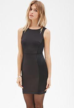 Contemporary Satin-Paneled Shift Dress | Forever 21 - 2000099513