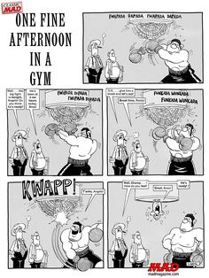 mad magazine the idiotical don martin one fine afternoon in a gym