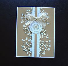 Stampin Up Handmade Christmas Ornament 5 Card Kit - with embossing & snowflakes   eBay