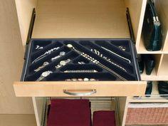 Jewelry storage inserts