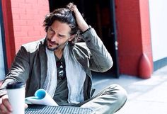 Manganiello in Varvatos–American actor and True Blood star Joe Mangniello shares his favorite Los Angeles hunts for a new addition to John Varvatos' Style & Joe Maganiello, Sexy Coffee, Ideal Man, John Varvatos, Saturday Night Live, Mans World, In Hollywood, Sexy Men, Hot Guys