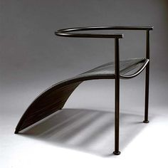 Philippe Starck. 'Pat Conley I' chair, 1983. Manufactured by XO, Paris. Black tubular steel and black nylon.