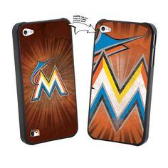 Miami Marlins Iphone 5 Large Logo Lenticular Case