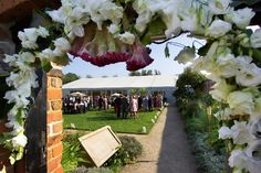 Peering through the doorway. The Conservatory at Painshill Park, a lovely wedding venues near Cobham in Surrey