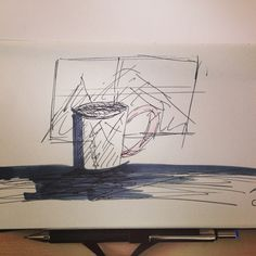 Skizze im Skizzenbuch   StenorKunst - Stefan Schwarz - Die Kunst ist, das Muster zu erkennen
