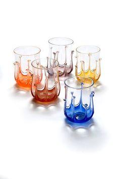 Spider glasses by Eileen Gordon of Gordon Studio Glassblowers |   The wonderful galleries of Red Hill
