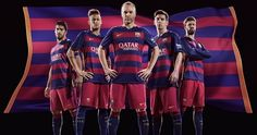 Looking for 2015-16 Barcelona home and away kits merchandise? Then get FC Barcelona's shirts, shorts, socks for home and away matches in La-Liga 2015-16.