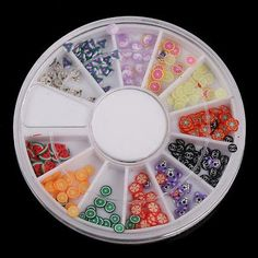Fimo Material Multicolor Nail Art Random 120pcs Slice Patterns Mixed Pattern * You can get more details by clicking on the image.