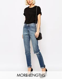 Image 1 ofCheap Monday Donna Slim Boyfriend Jeans With Distressing