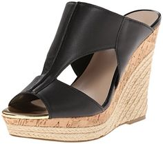 Charles by Charles David Womens Abacus Wedge Sandal Black 10 M US >>> Check out this great product.
