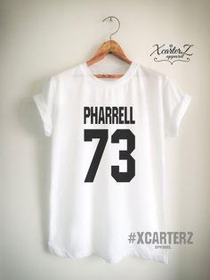 2dd47f3dc Items similar to Pharrell Shirt Pharrell T Shirt Pharrell Merch Print on  Front or Back side for Women Girls Men Tumblr Top Tee Jersey  White Black Grey Red ...