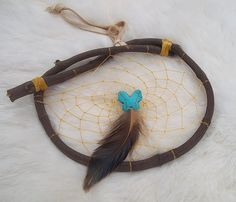 BUTTERFLY GRAPEVINE Dream Catcher by WhiteWolfeNativeArts on Etsy