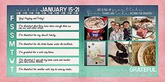 Gratitude Journal Week 3 (papers: Suzy Q Scraps, templates available weekly @ thedailydigi.com)