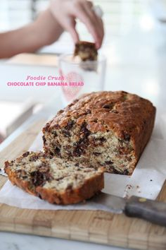 Chocolate Chip Banana Bread foodiecrush.com