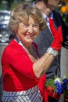 29-08-2015 Princess Margriet attend the 100th anniversary of the Prince Hendrik boarding school in Nieuwegein.