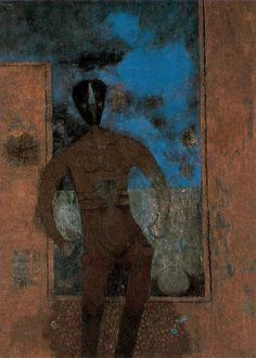 Máscara negra - Rufino Tamayo, 1983. Óleo sobre tela. 130.8 x 95.3 cm.