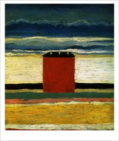 """""""Kazimir Malevich (Russian, born Ukraine: 1878–1935) Red House (Rotes Haus), 1932 """""""