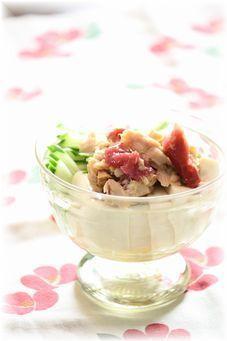 梅ツナ・お豆腐サラダ