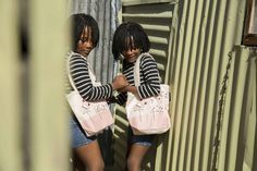 Twins playing in the township of Khayelitsha